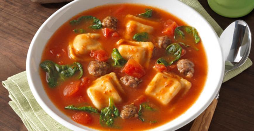 Ravioli Florentine Soup